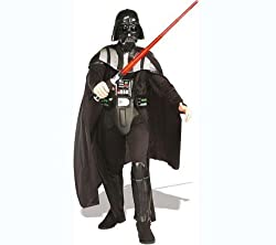 RUBIE'S Darth Vader Deluxe Adult's Costume - one size + 2 YEARS WARRANTY