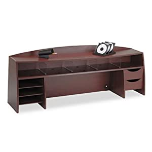 4 Buddy Products 58 Inch Wood Space Saver 12 5 X 21 25 X 58 Inches Mahogany 1134 16 Office Products O Cd Or Dvd Disc Media Storage