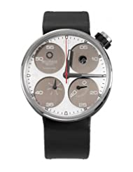 Meccaniche Veloci Men's W122N071373016 Automatic Titanium Silver and Brown Dial Day-Date Watch