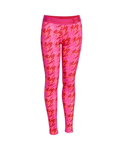 Under Armour Women's HeatGear Armour Printed Legging, Pomegranate (693), Youth X-Large