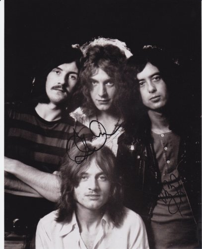 Led Zeppelin, 8 X 10 Photo Display Autograph On Glossy Photo Paper