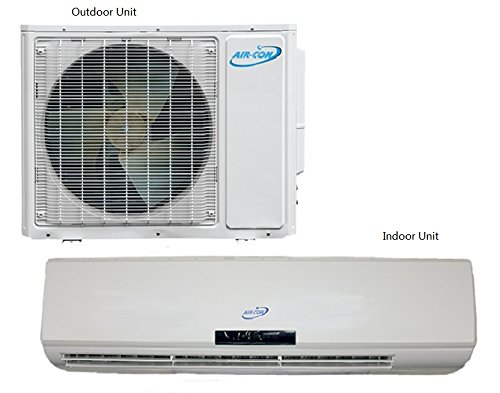 Air-Con Ductless Mini Split Air Conditioner Heat Pumps w/ Inverter Technology, 16 SEER Dual Zone 21K BTU. (21 Seer Air Conditioner compare prices)