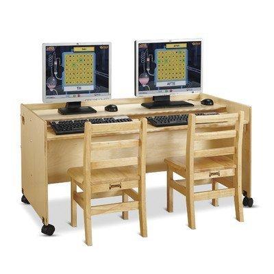 24 in. Enterprise Double Computer Desk by Jonti-Craft