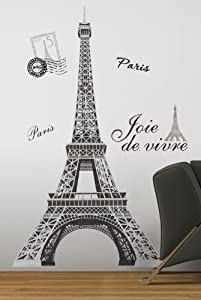 RoomMates RMK1576GM Eiffel Tower Peel and Stick Giant Wall Decal by York Wallcoverings