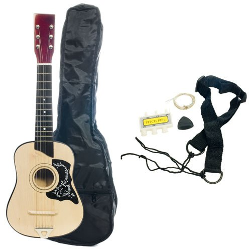 Kid's Acoustic Toy Guitar with Carrying Bag and Accessories - Natural