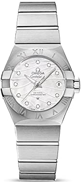 Omega Women's 'Constellation' Swiss Automatic Stainless Steel Dress Watch, Color:Silver-Toned (Model: 12310272055002)