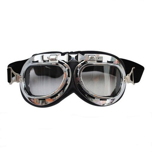 Autek-Steampunk-Dieselpunk-Goggles-Clear-Lenses-Industrial-Goth-Unique