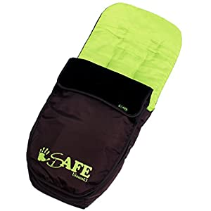 Genuine iSafe Visual 3 Universal Deluxe 2 In 1 Footmuff Cosytoes Liner - Chocolate And Lime by iSafe