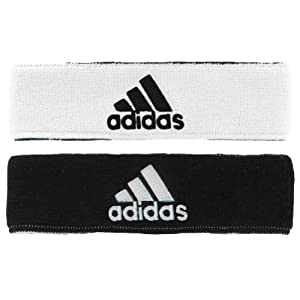 adidas Men's Interval Reversible Headband, White/Black/Black/White, One Size