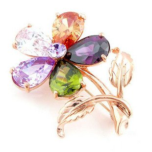 Austrian Swarovski Crystal Fashion Lady Pin Brooch -Beautiful and The Highest Quality Austrian Crystal with Elegant Flower Design 5 cm W x 3 cm H Comes With Free Swarovski Jewelry Velvet Bag,Attractive and Gorgeous . Super Saving w/100% Satisfaction Guaranteed ! A Great Gift For Your Friends or Loved Ones.