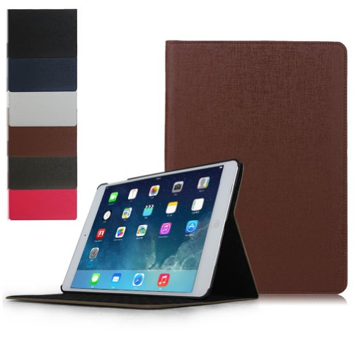 Ipad Air Case - Ultra Slim iPad 5 Case That Will Also Work As a Stand. For Use with the Ipad 5 / 5g or Ipad Air. By Brand M Mobile --- Ultra Slim Cover with Internal Protective Smart Shell. BROWN