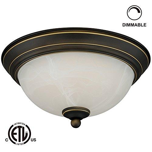 12W 11-Inch Dimmable Led Flush Mount Ceiling Light - 50W Equivalent 3000K Warm White Led Ceiling Light Fixtures - 800Lm Etl-Listed Led Surface Mount Lighting Fixtures (Black)