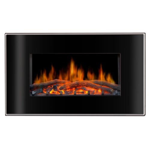 Lofty Bg03Fb Valencia Wall Mount Electric Fireplace, 35.4 By 23.75 By 8-Inch