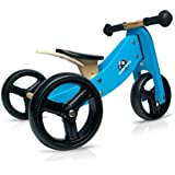 Kinderfeets Tiny Tot Blue Wooden Balance Bike/Tricycle