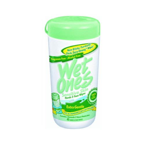 Wet Ones Sensitive Skin Hand Wipes: 40 Count Canister