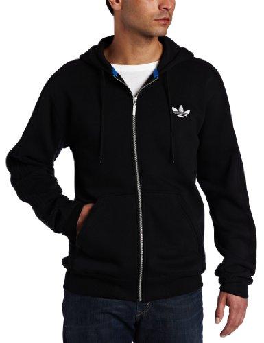 adidas Sport Hooded Flock Fleece Zip-Thru Jacket