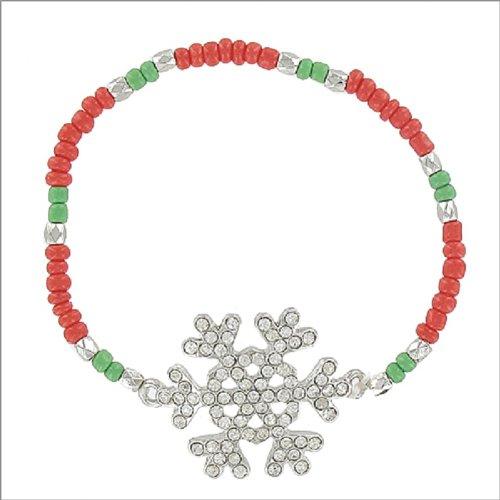Snowflake with Multi Seed Bead Bracelet #041647