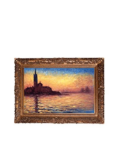 Claude Monet San Giorgio Maggiore By Twilight Hand-Painted Oil Reproduction, Multi, 33.5 x 45.5