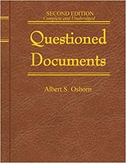 questioned documents professional technical series With questioned documents book