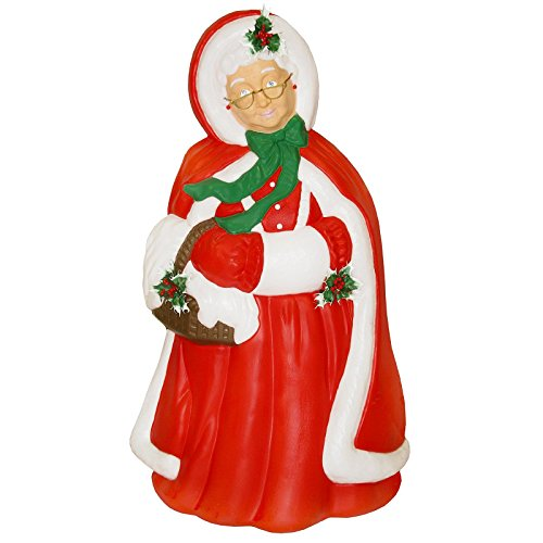 [Mrs Santa Claus Christmas Light-up Blow Mold Plastic Lighted 40