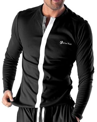 Blz Jeans T Shirt Pyjama Homme Noir Tendance Et Fashion Couleur Noir Taille Xxl Amazon