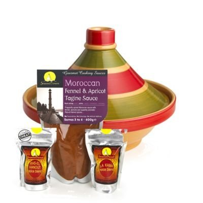 Traditional Tagine and Seasoning Kit Starter Gift Pack by lakeland