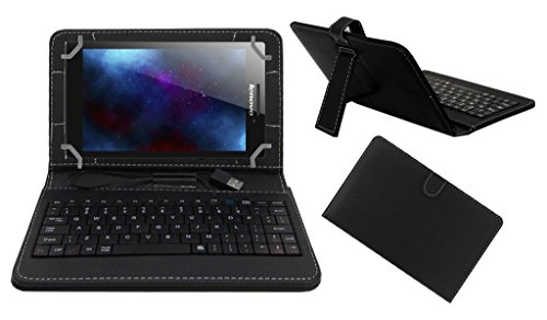 ACM PREMIUM USB KEYBOARD TABLET CASE HOLDER COVER FOR LENOVO TAB 2 A7-30 With Free MICRO USB OTG - BLACK
