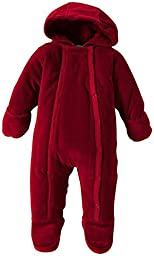 Burt\'s Bees Baby Unisex-Baby Organic Velour Hooded Bunting, Cranberry, 0-3 Months