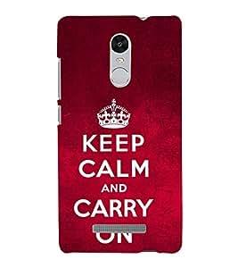 Carry On Quote 3D Hard Polycarbonate Designer Back Case Cover for Xiaomi Redmi Note 3 :: Xiaomi Redmi Note 3 (3rd Gen)