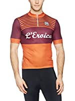 Santini Maillot Ciclismo Eroica Gaiole 2015 Event Series Techno (Naranja / Vino)