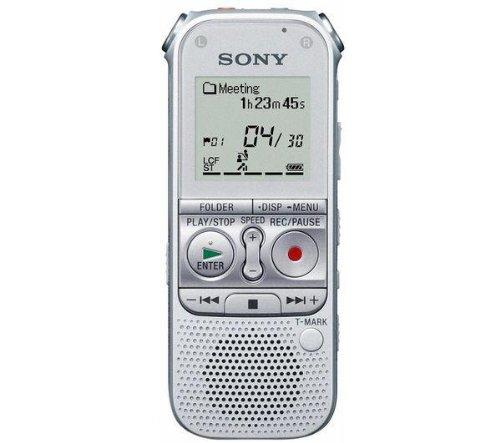SONY ICD-AX412FS 2 GB voice recorder – silver + ECMCS3 Tie-clip Microphone