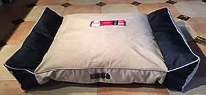 Amazon Com Kong Lounger Dog Bed Khaki Chew Resistant