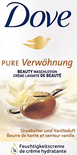 Dove - Pure werwöhung, loción de lavado a manteca de karité y dispensador de fragancia vainilla 250 ml