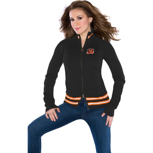 Touch by Alyssa Milano Cincinnati Bengals Women's Sweater Mix Jacket Large at Amazon.com