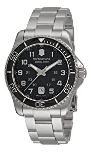 Victorinox Swiss Army Men's 241436 Maverick Stainless Steel Black Dial Watch by Victorinox Swiss Army
