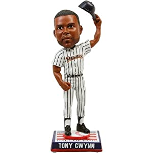 Tony Gwynn San Diego Padres Cooperstown Collection HOF Logo Base Bobble Head by My Sports Shop