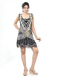 Sakhee Women's Cocktail Tunic Dress (1022_Black_XXXXX-Large)