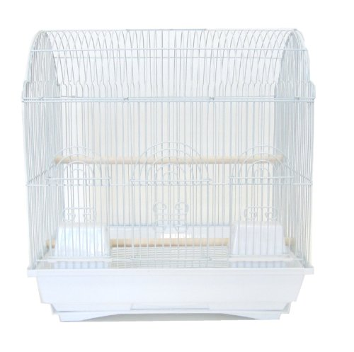 YML 3/8-Inch Bar Spacing Barn Top Bird Cage, White