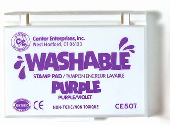 14 Pack CENTER ENTERPRISES INC. STAMP PAD WASHABLE PURPLE