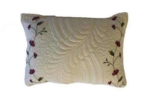 Nostalgia Tatum 100-Percent Cotton Fabric 100-Percent Polyester Fiber Fill Oblong Decorative Pillow With Embroidery front-78519