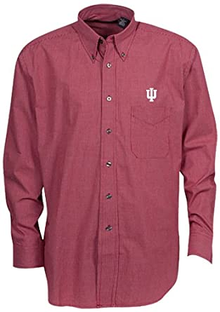 Oxford NCAA Indiana Hoosiers Mens Mini-Check Button Down by Oxford
