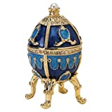 Design Toscano FH0858 The Pushkin Collection Natalia Faberge-Style Enameled Egg