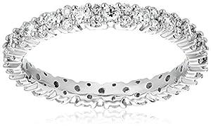 Platinum Garland Diamond Eternity Ring (1 cttw, G-H Color, VS1-VS2 Clarity), Size 4.5