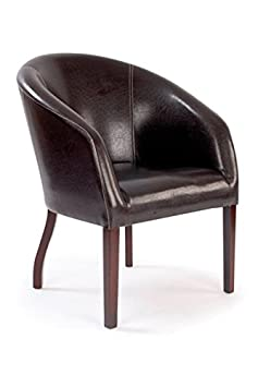 Metro Curved Armchair BROWN