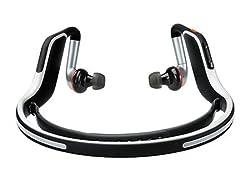 Motorola S11-Flex HD Wireless Stereo Bluetooth Headset (Black & White) - Bulk Packaging