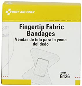 """First Aid Only 1-3/4"""" X 2"""" Fingertip Fabric Bandage, 40 Count box"""