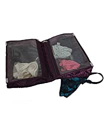 Kuber Industries Quilted Satin Lingerie Cover / Undergarments Kit