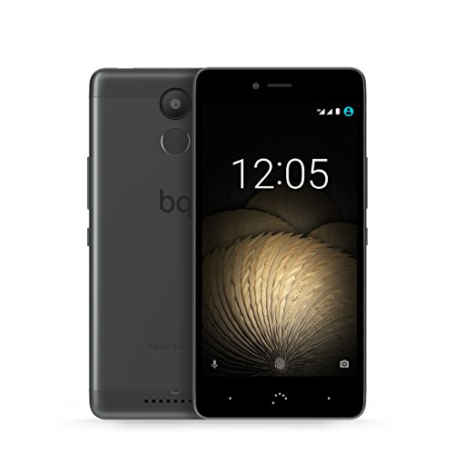 bq Aquaris U Plus, black/anthracite grey unlocked - Android 6.0.1Dual-SIMFingerabdrucksensor5'' HD Display16 MP Kamera16 GB ROM2 GB RAMAkku: 3080 mAh