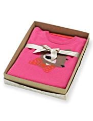 Autograph Pure Cashmere Deer Design Jumper in Gift Box