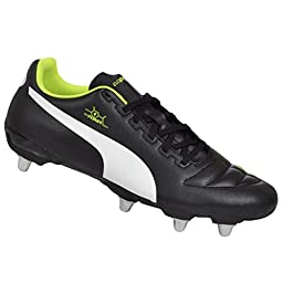 Puma Men\'s Synthetic Leather Evopower Rugby Boots 10.5 UK Black